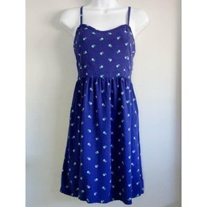 Old Navy Dress Blue with Green Flowers Size Small